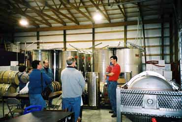 Turtle Run Winery Tasting at The Vats With Jim and Son Joe
